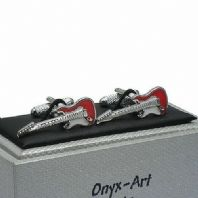 Electric Guitar Novelty Cufflinks by Onyx Art Gift Boxed CK476